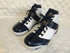 Nike Zoom Lebron V 5 Akron Olympic White Navy Blue 317253-141 Men's Sz 12