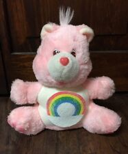 "Cute Vintage 1984 Care Bears ""Cheer Bear"" 8"" Plush Bank GVC"