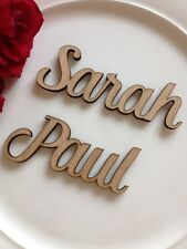 Wedding Table Wooden Names Place Name Setting Personalised