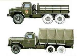 Ural-375 & ZIS-151 Truck Russian Author's drawing illustrate cover book