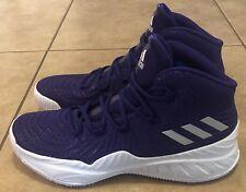 Adidas Crazy Explosive 2017 Men's Size 11.5 Basketball Shoes Purple White