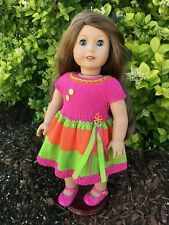 Fits American Girl Dolls Hand Knitted Summer Sizzle Dress (Doll & Shoes Not Inc)