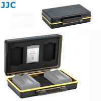 JJC 2 Camera Battery + 3 XQD Memory Card Case Holder for Nikon EN-EL15 EN-EL15