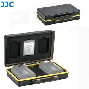 2 Camera Battery + 3 XQD Memory Card Case Holder for Nikon EN-EL15 Sony NP-FW50