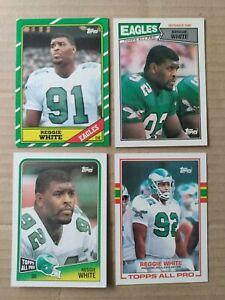 Reggie White 4 Card Topps Lot 1986-89 Inc. Rookie Card #275- Philadelphia Eagles