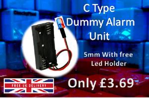 DUMMY ALARM BOX FLASHING LED LIGHT.DECOY ALARM UNIT BLUE& RED