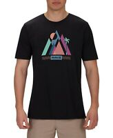 Hurley Mens T-Shirt Black Size Large L Prism Scene Out Graphic Tee Crewneck 215