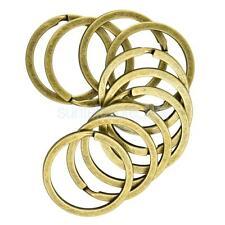 10pcs Antique Bronze Keyring Split Key Rings 32mm Hoop Ring Key Chain Holder