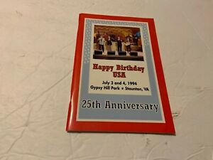 The Statler Brothers-Happy Birthday U.S.A. 1994 Program Staunton July 4th 25th