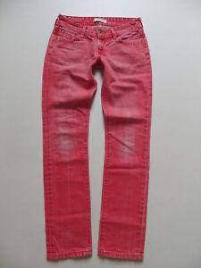 Levi's 571 Slim Fit Jeans Hose W 29 /L 34 ROT ! Red Vintage coloured Denim TOP !