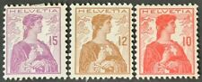 STAMPS SWITZERLAND 1908 DEFINITIVES MINT HINGED - #2761