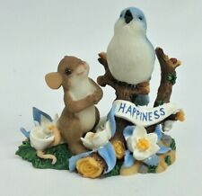Charming Tails You Make Me So Happy Blue Bird Mouse Fitz & Floyd 89/364