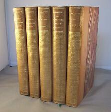 LAMARTINE 5 Vol PREMIERES ET NOUVELLES MEDITATIONS POETIQUES, HARMONIES, JOCELYN