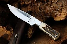 Custom D2 Steel & Stag Antler Hunting Knife from DCKC w/ FREE Expedited Shipping