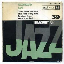 "WASHBOARD SAM :RARE EP RCA 86369 ( "" treasury of jazz N° 39 "" - 1964 )"