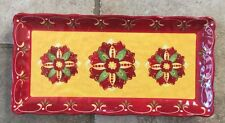 Le Cadeaux Corvo Red Yellow MELAMINE Biscuit Tray / Serving Tray