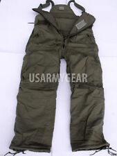 US Army Military Cold Weather Insulated BiB Overall Cargo Winter GI Pants S or M
