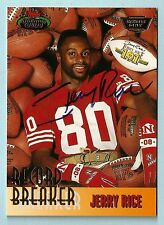 JERRY RICE 1993 STADIUM CLUB MEMBERS ONLY SIGNATURE RECORD BREAKER AUTOGRAPH