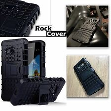 MICROSOFT Lumia 640 XL ROBUSTO CASE TECH 2 sopravvivenza BOX Armour Rock COPERTINA NERA