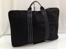 Auth Hermes business bag briefcase fool toe black canvas 7K290510