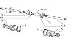 7739016 - Semialbero di trasmissione FIAT Punto VAN