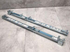 Dell PowerEdge R610 R710 Static 1U Rack Mount Server Rail Kit - K291G G483G