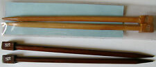 "Surina 10"" Wooden Single Point Knitting Needles  Size 10mm US 15  NIP"