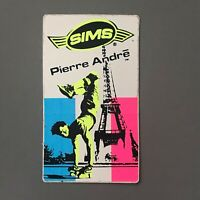Vtg Sims Pierre Andre Sticker Decal Skate Shop Skateboard NOS 80's