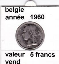 FB )pieces de baudouin  5 francs 1960  belgie