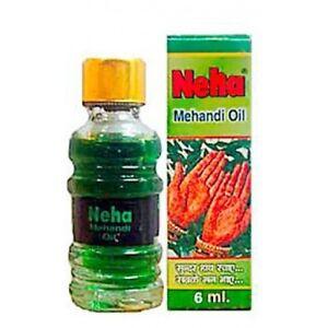 Neha Mehandi Oil with Terpineol Eucalyptus Oil for Darkening Henna 3x6 ml