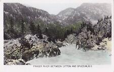 Fraser River between LYTTON & SPUZZUM B.C. Canada Gowen Real Photo Postcard 59