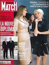 PARIS MATCH N°3550 1er JUIN 2017  MACRON & DIPLOMATIE/ DIANA/ CANNES/ MANCHESTER