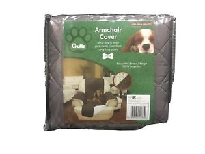 Crufts Single Seat Armchair Dog Cat Furniture Protector-Reversible Brown/Beige