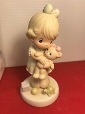 Precious Moments Loving Pm932 1993 Members' Only Figurine - Teddy Bear, Girl