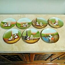 VINTAGE 1974 Set of 7 SUN-BONNET BABIES LIMITED EDITION ROYAL BAYREUTH PLATES