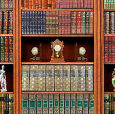 Dolls House Victorian Wallpaper Library Books Mural Quality Paper Miniature #04