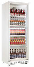 Getränkekühlschrank weiß, 360 Liter, mit Glastür, Flaschenkühlschrank Gastro
