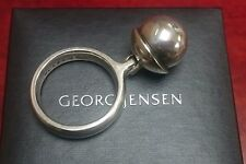 Georg Jensen 473A Sterling Silver & Silver Ball Sphere Ring