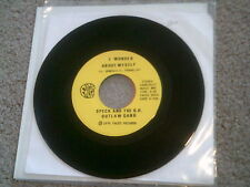 """SPECK AND THE G.H. OUTLAW GANG - I WONDER ABOUT MYSELF * SOUL FUNK 7"""" 45"""