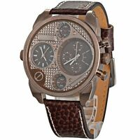 Men's Multi Function Leather Band Quartz Watch