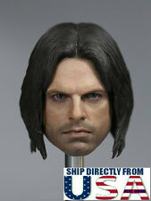 1/6 The Winter Soldier Bucky Head Sculpt For Hot Toys PHICEN Male Figure U.S.A.