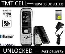 New Nokia 2720 Flip Fold Camera Big Button Big Screen Big Font Black Phone