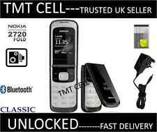 NEU Nokia 2720 Flip Fold Kamera Big Button Leinwand Big Font Schwarz Telefon