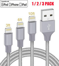 3/6/10FT For 8Pin iPhone 6 7 8 Plus iPhone 11 XR Xs Max Charger USB Cable Cord