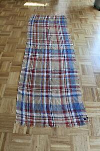 Großes Barbour Tuch Schal 100% Leinen