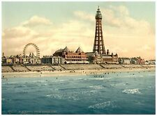 Blackpool From North Pier II Vintage photochrome print ca. 1890