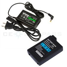 Travel Charger + Rechargeable Battery For Sony PSP 1000
