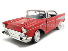1957 CHEVROLET BEL AIR RED HT 1:24 DIECAST CAR MODEL BY MOTORMAX  73228
