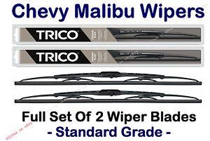 """Chevrolet Chevy Malibu 2004-2007 Wiper Blades 2pk Full Set 22"""" + 20"""" 30221/30200"""