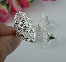 wholesale 5pcs LF 925 silver hollow out Big Rings B 6-8